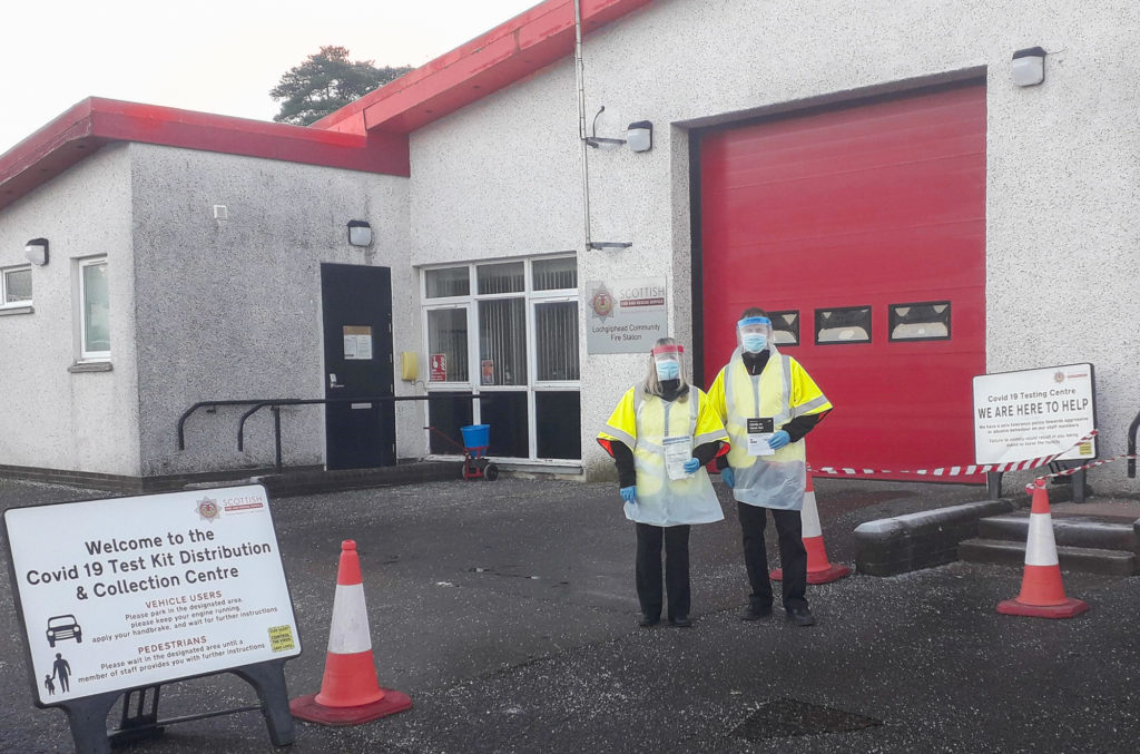 Fire station Covid testing expanded to Campbeltown