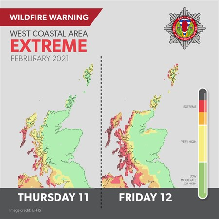 West coast 'extreme' risk of fire warning