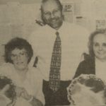 In 1996: The two longest-serving workers at Jaeger's Campbeltown factory, Jean McKinven and Agnes McKerral, each received a special silver plate from menswear's managing director, Harry Rea, to mark their service to the company last week.