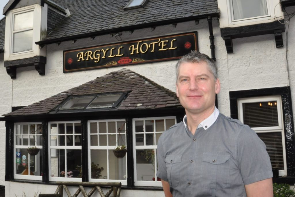 Nick Fletcher of the Argyll Hotel in Bellochantuy.
