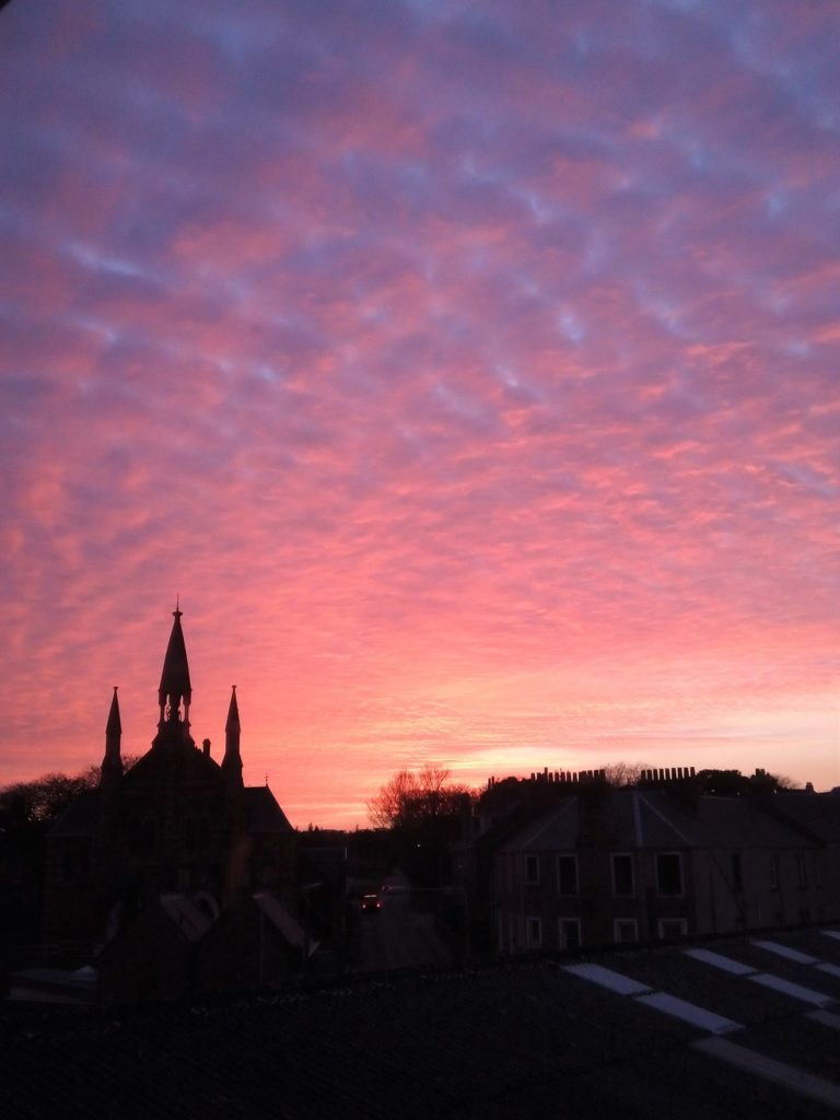 Pip Mayberry took her own shot of the sky over Campbeltown Heritage Centre on March 1, through the back window of her Campbeltown home.