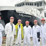 In 2011: A delegation from Caledonian MacBrayne and Caledonian Maritime Assets Limited visited the Remontowa Shipyard in Gdansk, Poland, to oversee the final stages of construction of the new state-of-the-art ferry to be handed over to CalMac on May 2 for the Islay service. From left: Andrew Flockhart, CMAL business planning manager; Scott Ure, CalMac senior technical manager; Gordon Haig, chief engineer; Roddy MacLeod, ship's Master; Drew Collier, CalMac's retail manager and David Cannon, public affairs manager.