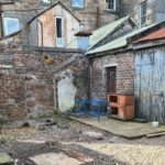 The area to the rear of Youth Impact's Burnbank Place base is currently empty.