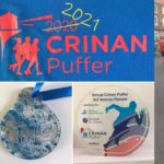 Each Crinan Puffer participant received a T-shirt and medal, which were bought last year and adapted after the 2020 race was cancelled, and category winners also received a trophy.