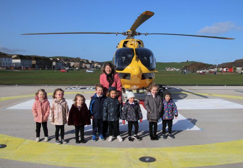 First aircraft lands at memorial helipad