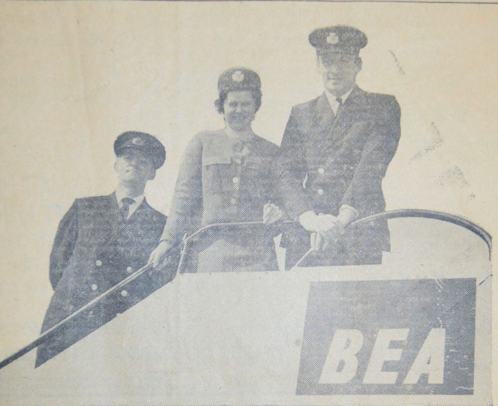In 1971: Three stalwarts who keep Campbeltown in touch with the rest of the world daily are pictured here. British European Airways staff, from top to bottom: Mr Ian Taylor; Miss Agnes Morrison and Mr Dugald Fergus, station superintendent.