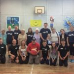 Members of Shopper-Aide's Elderberries group during a visit to Campbeltown Grammar School for an afternoon of fun and games.