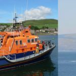 Campbeltown's all-weather lifeboat, the Ernest and Mary Shaw, left, was sent to assist with the rescue, left. Photograph: Neil Arthur.