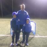 Tarbert Soccer Centre coach Donnie Sinclair with sons Jack and Greg.