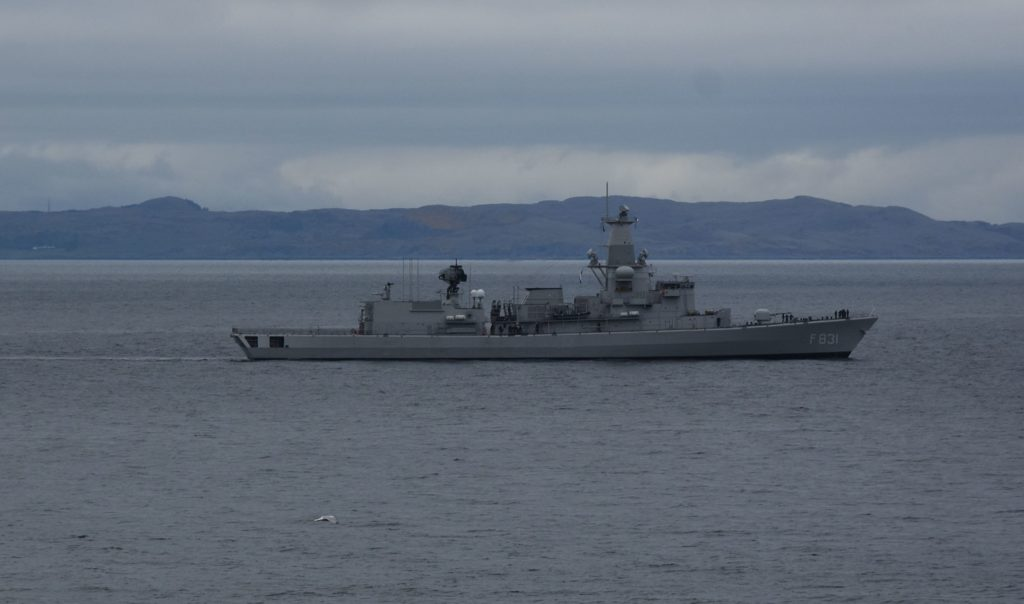 Major military exercise under way off Campbeltown