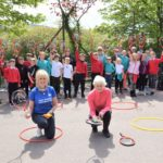Dalintober Primary School's P4 class joined pupils from Glenbarr Primary School for a tennis masterclass courtesy of Judy Murray OBE, front right, and Laura Middleton, front left.