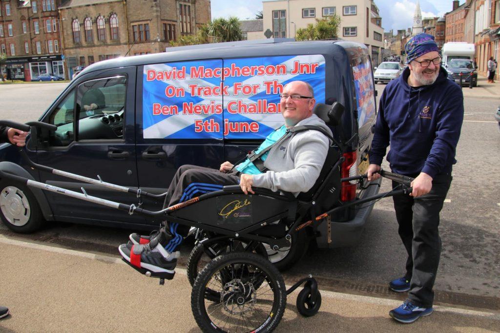 David test rides wheelchair for Ben Nevis challenge
