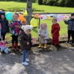 Some of the children who took part in the sponsored teddy toddles.