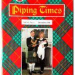 The front cover of the December 1990 edition of the Piping Times shows a photograph of Campbeltown piper Willie McCallum with his wife Christine and the couple's daughter Hailey.
