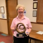 Inez Ronald, winner of the handicap prize in Dunaverty Golf Club's Macmillan Cancer Support Open.