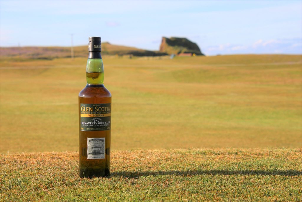 Each member of the winning team was presented with a bottle of Glen Scotia Victoriana whisky.