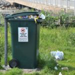 Bins were overflowing in many tourist hotspots including Tayinloan, at the Gigha ferry car park, after the bank holiday weekend.
