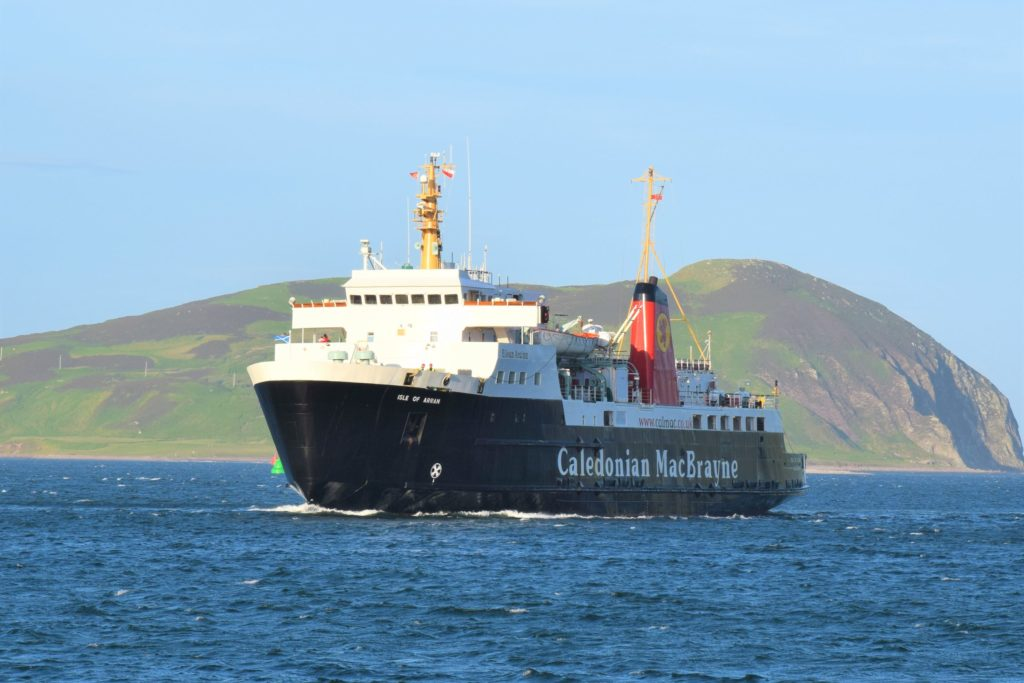 The MV Isle of Arran was a welcome visitor to Campbeltown Loch last week.