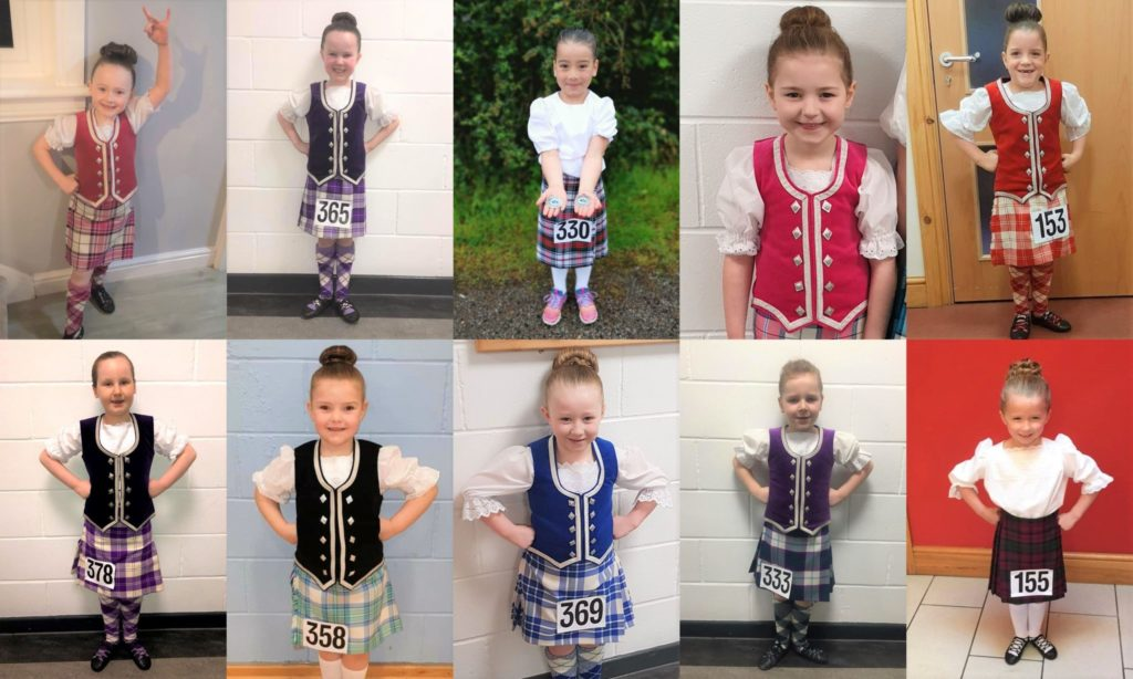 Dancers warm up for fundraising Highland hike