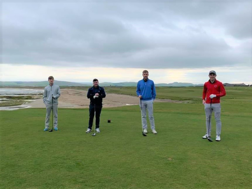 The winning team of Andrew Wallace, Andrew McCallum, Mitch Graham and Michael McKinlay.