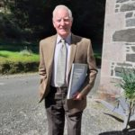 After last Sunday's service at Saddell and Carradale Church, Reverend Steve Fulcher presented William J Semple, better known in the community as Wum, with a certificate to honour nearly 50 years of eldership.