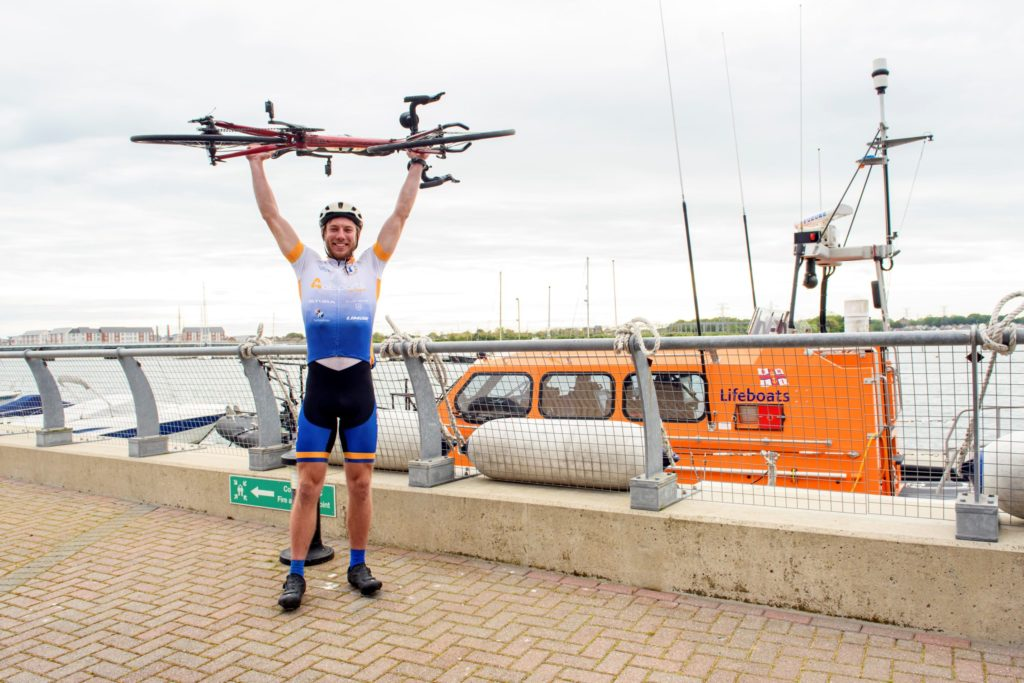 Harry Lidgley completed his cycling circumnavigation of the UK mainland in 34 days.