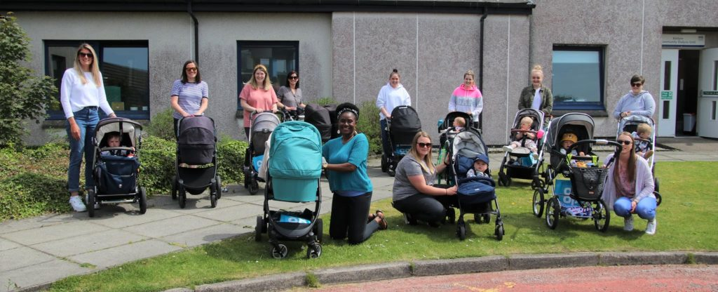 The MOK walkers set off from Campbeltown Hospital.