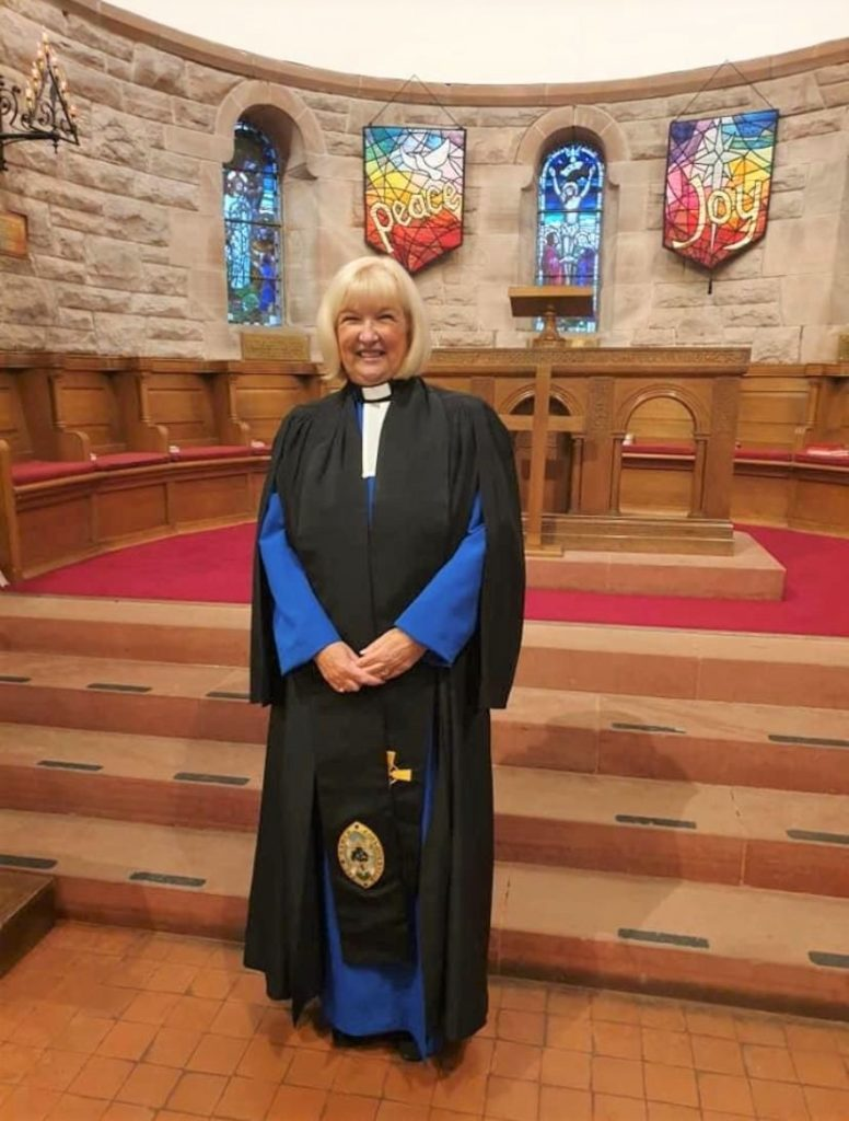 Reverend Janet MacKellar, the Presbytery of Argyll's new moderator.