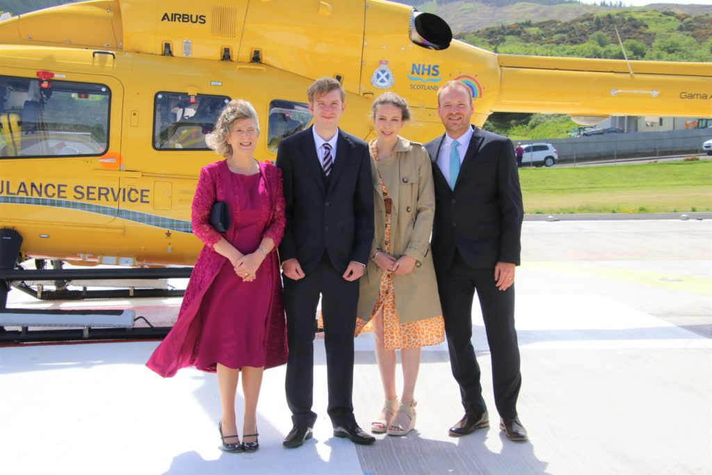 Black family 'humbled and proud' as memorial helipad opens
