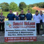 From left: Lee Allen, Shirley Bannatyne, Gavin Mclachlan, Jimmy Anderson, sponsor Donald MacLean, Angus Brodie, Scott Mclachlan, Robert Todd and Ryan Mclachlan.