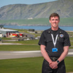 Jamie Conley haslanded the role of airport fire and operations manager at Sumburgh Airport in Shetland. Photograph: HIAL.