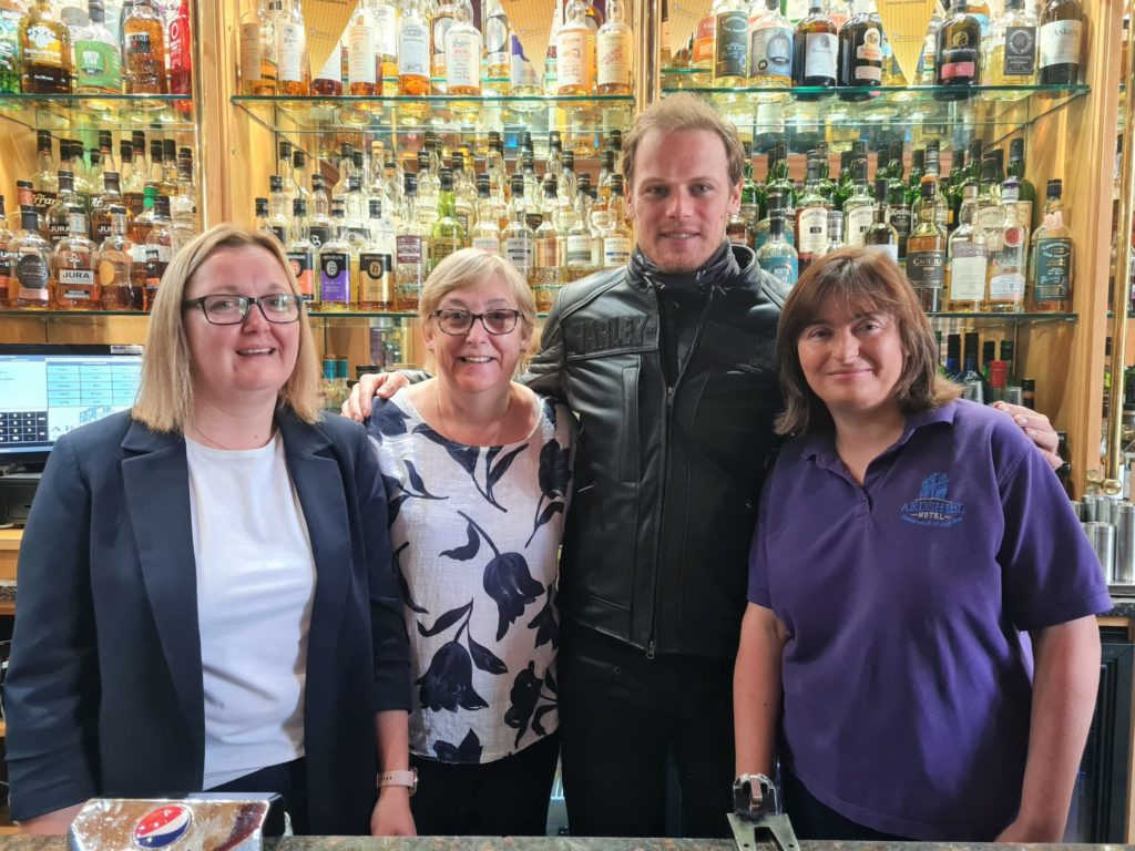 Actor and whisky lover Sam Heughan rides into town