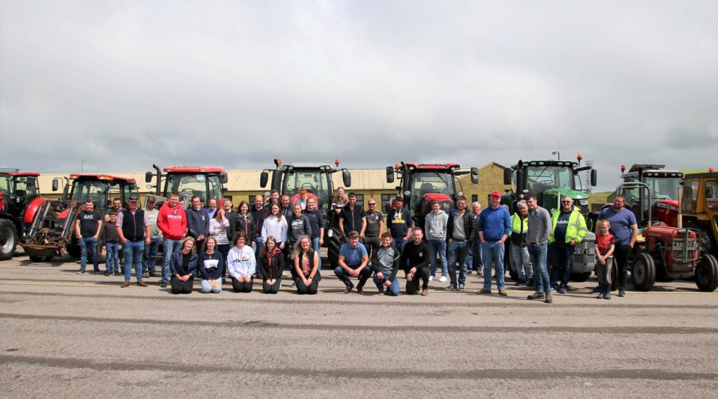 First tractor run raises a grand total