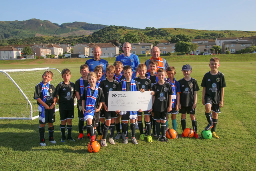 Rangers fans' boost for youth football