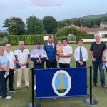From left:Jessie Andrew, John Scott, Neil Maguire, Steven Gorman, Bobby Dalziel, sponsor Rhys Blair with his daughter Rhyia, President David Brown, Steven Dickson and Susan Gilchrist.