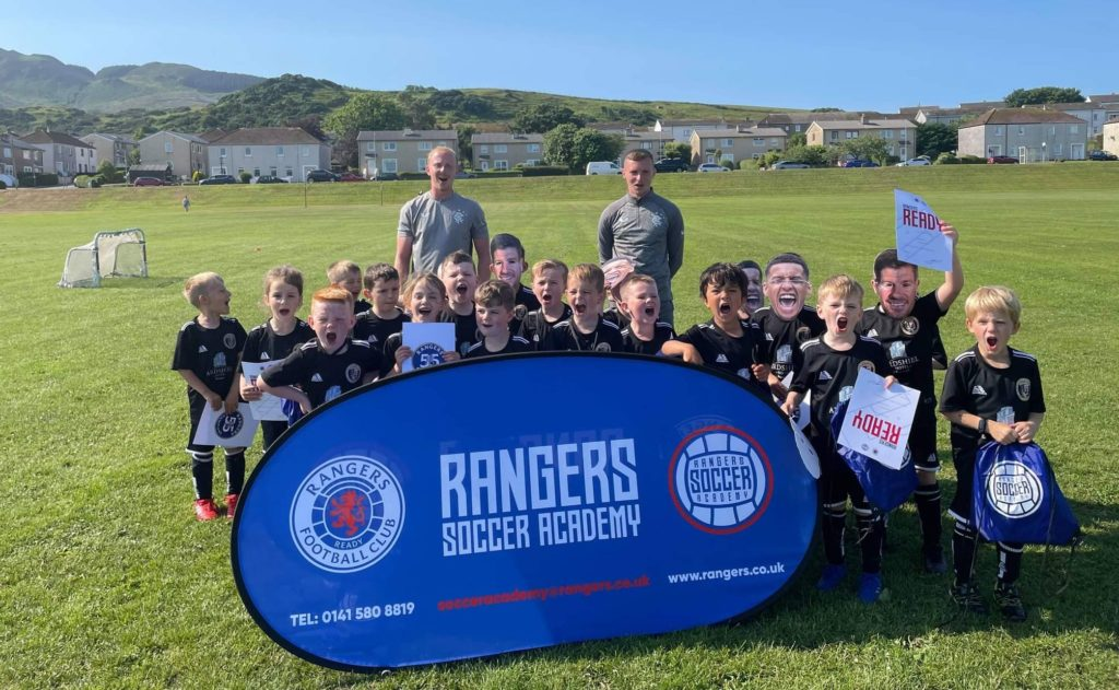 Academy coaches put footballers through their paces