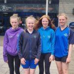 Kintyre swimmers Niamh Quinn, Hannah Millar, Emma Millar and Evie Judge.