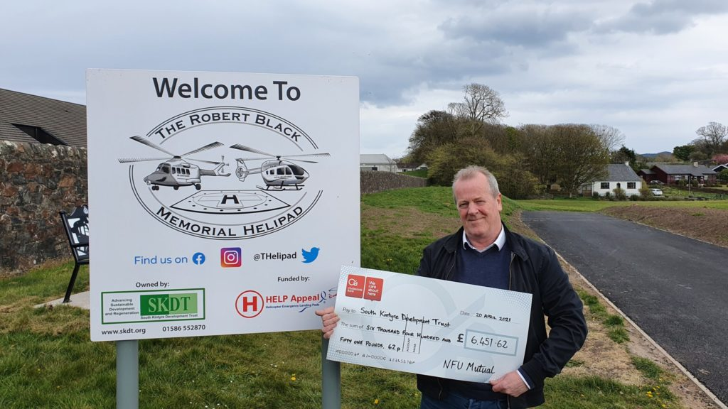 Rural insurer's donation supports Kintyre helipad