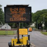 The road will be closed overnight as resurfacing works are carried out.