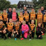 Campbeltown Pupils 2009s (under 13s) triumphed in their first competitive 11-a-side match. The players are photographed with sponsor Alistair Glen and coaches Freddy Arkell, Archie Johnston, Neil McSporran and Robbie Judge, back.