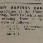 Campbeltown Penny Savings Bank regularly published its accounts in the Courier.
