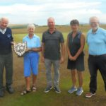 From left: Winners Sandy Watson and Linda Brannigan; Vice Captain Donald Brown; runners-up Ailie MacBrayne and Robin Finlay.