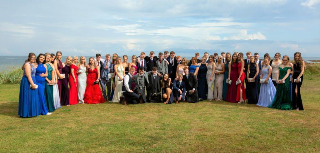 Campbeltown Grammar School class of 2021. Photograph: Fraser McNair.