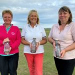 The captain's charity day winning team, from left: Lorna Cook, Elizabeth Marrison and Susan McLennan.