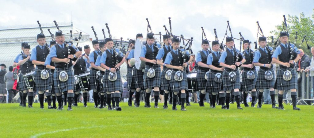 In 2011: World champions Kintyre Schools Pipe Band.