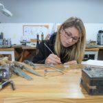 Linda Scott of Linda Macdonald Jewellery at work.