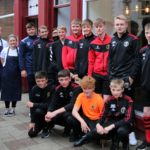 The Campbeltown Pupils 2007s stopped off at Munch for some breakfast before heading to Oban. The café just reopened under the new ownership of Olly McLean and Chloe Baines, left, and the Pupils were the first customers.