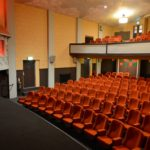 The interior of screen one at Campbeltown Picture House showing some of the sponsored seats.