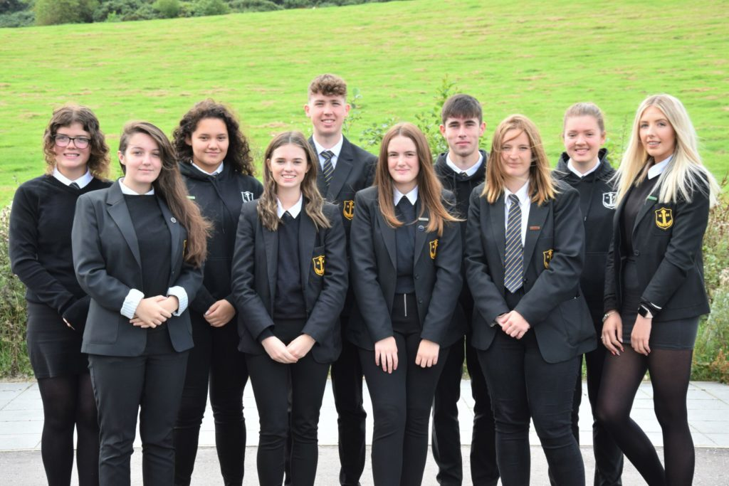Back row, from left: Caryn Kerr, Astrid MacLellan, Euan Dott, Kyle Paterson, Jane Scott and Caitlin Russell. Front: Beth MacPherson, Erin Soudan, Heather Millar and Beth Bannatyne.