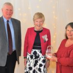 South Kintyre's Deputy Lieutenant Jim Martin, Argyll and Bute Lord Lieutenant Jane MacLeod and Shopper-Aide director Susan Paterson.